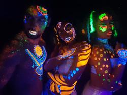Hire UV Bodypaint Dancers London UK