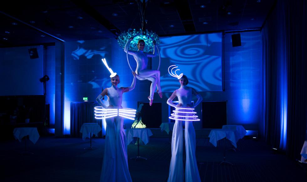 Hire best LED Dancers London UK Stilt Walkers