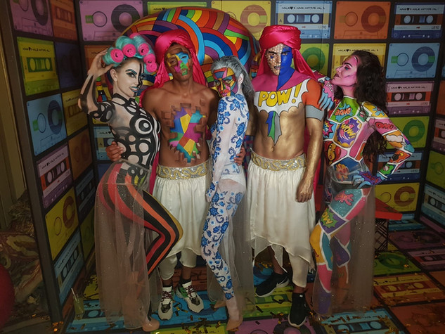 Pop Art Bodypainted Models