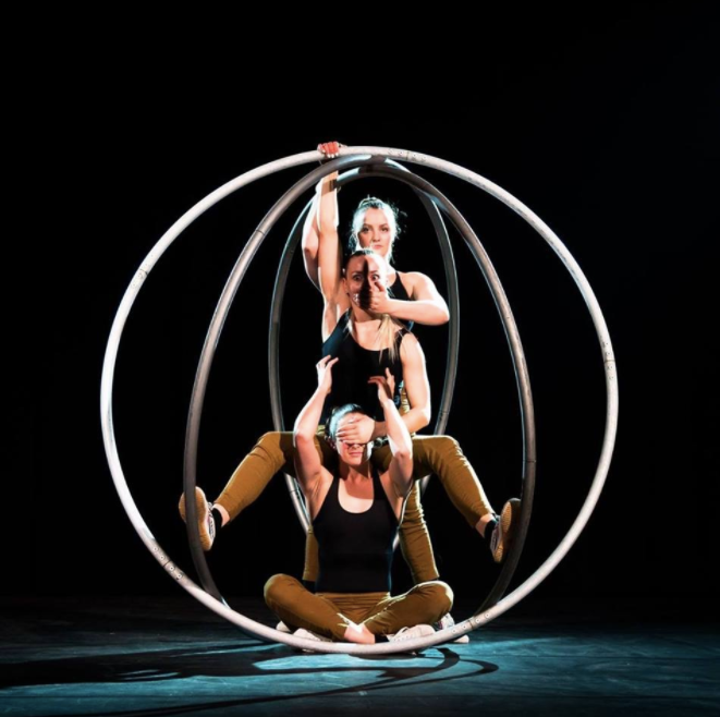 Multiple Cyr Wheel Show for Hire London UK