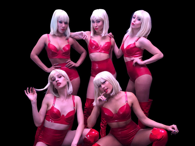 Ladies in Red... Latex