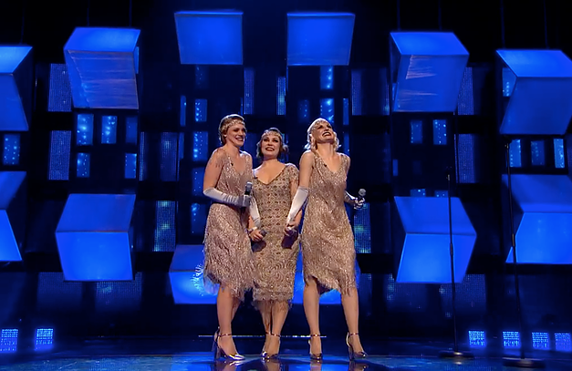 Hire the Great Gatsby Singing Trio - Blue Stage .