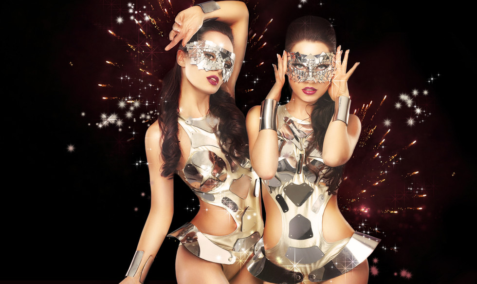 Dancers with bespoke costumes by FantasyBox Entertainment