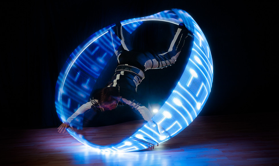 Hire best LED Cyr Wheel London UK