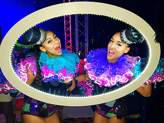 Circus Performers with LED Frame