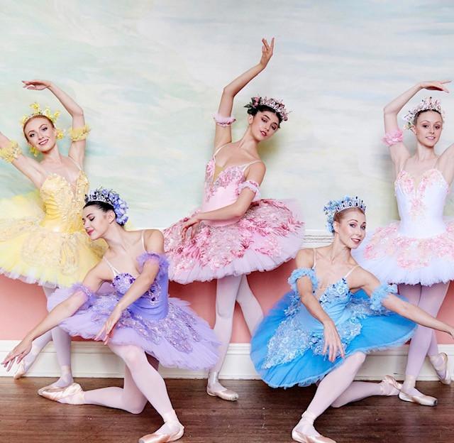 Hire pastel floral ballet dancers London UK