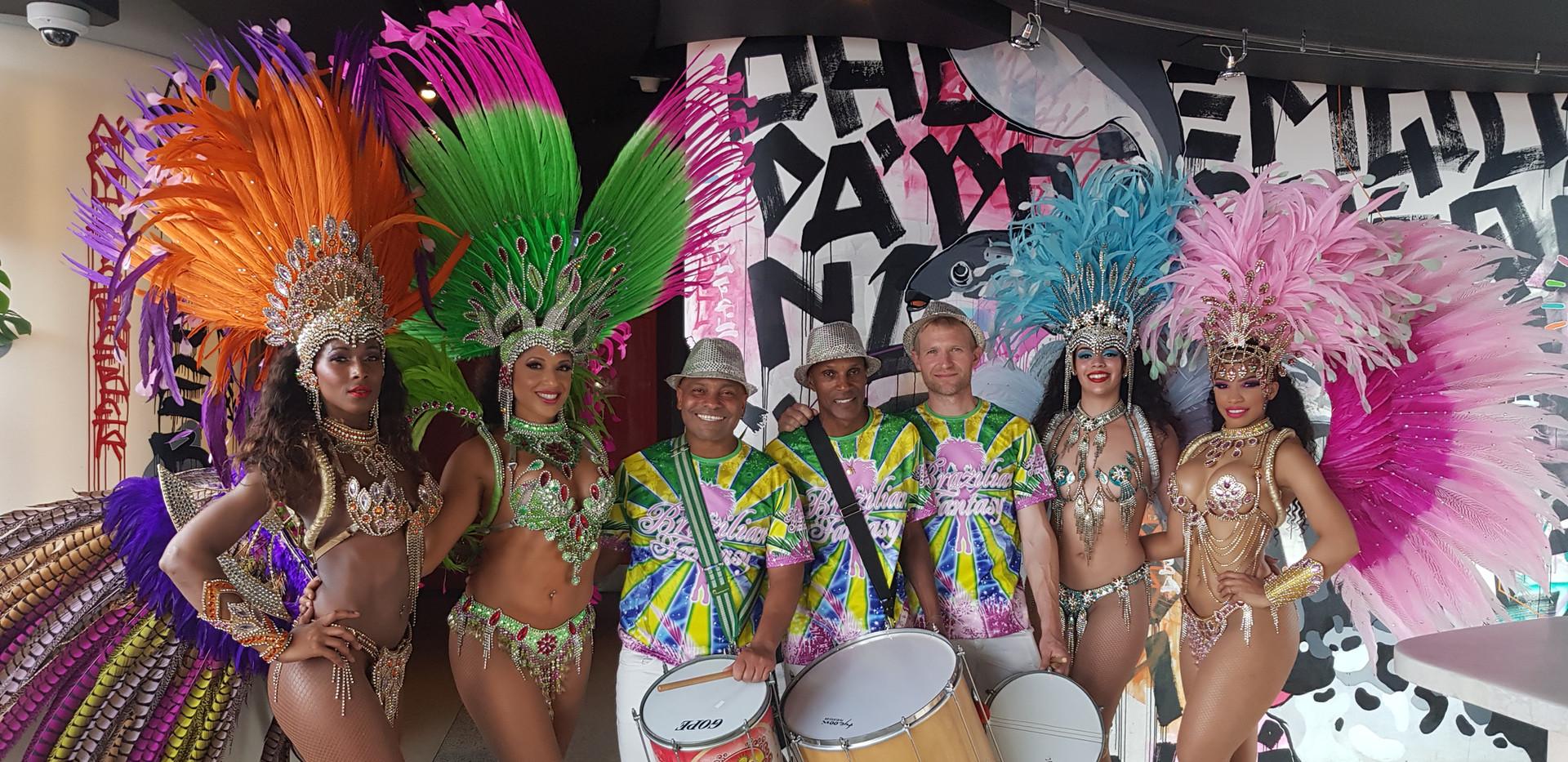 Hire Brazilian Samba Dancers and Drummers