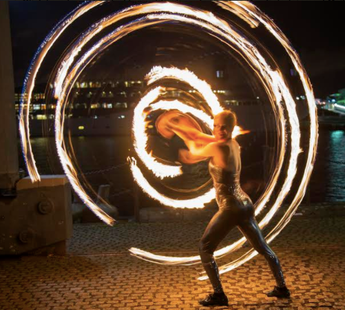 Hire Fire Hula Hoopers Show London UK