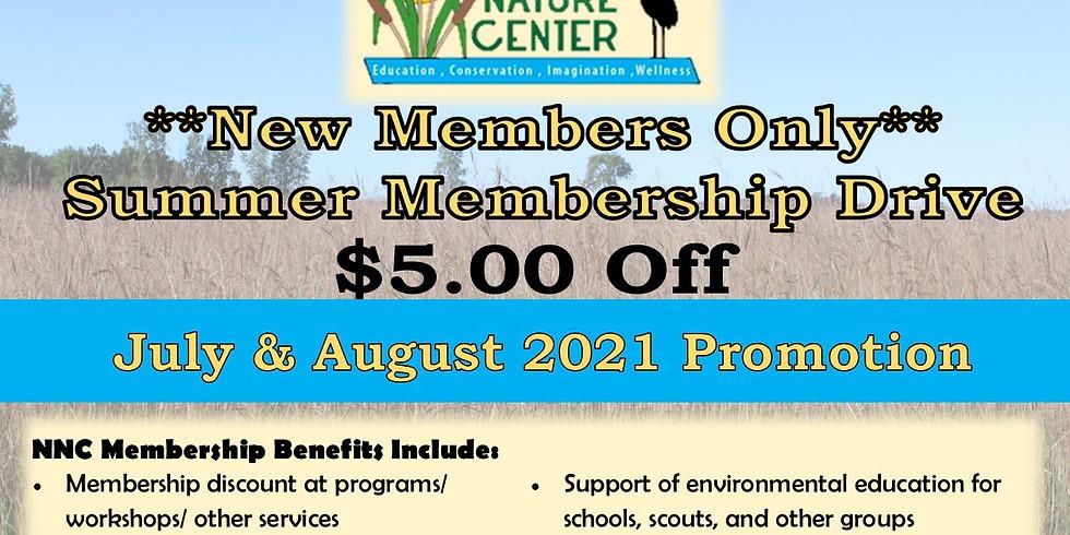 Summer Membership Drive (New Members Only)