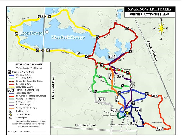 Winter sports trail map 2020 -- with lab