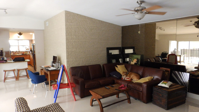 Living Room and Kitchen Before the Renovation