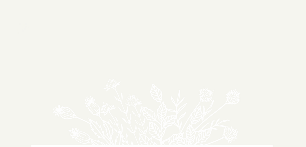 Decorative white floral design in front of off white background