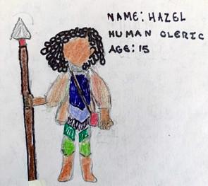 Hazel, 15 year old Human Cleric