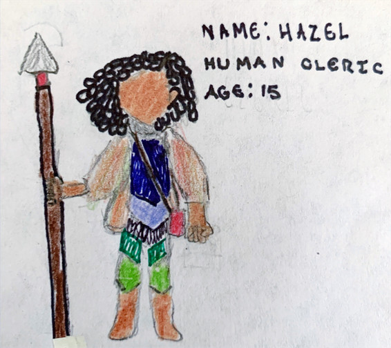 Hazel, 15-year-old Human Cleric