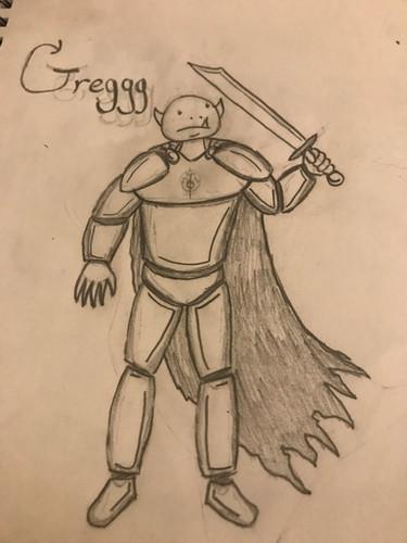 Greggg Caeruluem, 13 year old Half-Orc Paladin