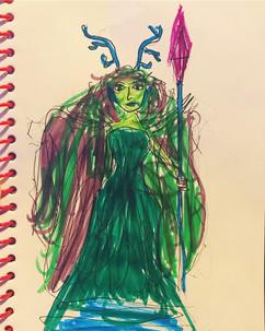 Moonstone, 10-year-old Druid
