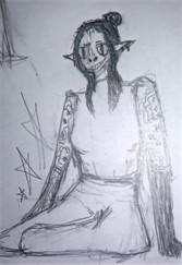 Starmarlin, 14-year-old Half-Elf Warlock