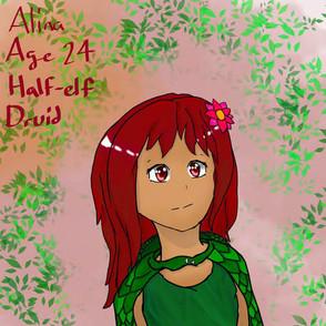 Alina, 24 year old Half-Elf Druid