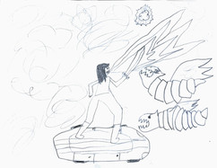 Alex, 11-year-old Dragonborn Rogue