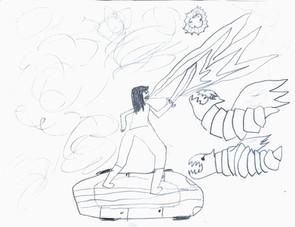 Alex, 11 year old Dragonborn Rogue
