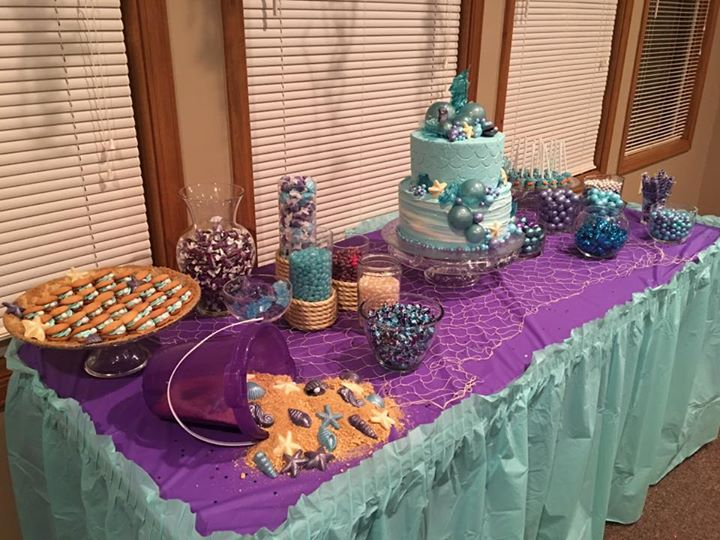 Under the sea candy and dessert bar
