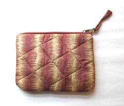 Silk Quiltet Pouch Geometric