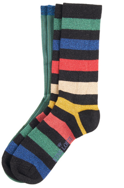 Socks 2-Pack Lurex Stripe