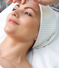 Woman relaxing after stress busting teatment