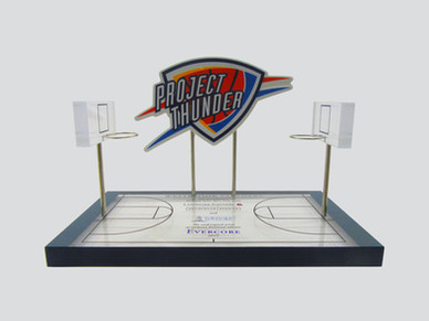 Basketball Court with Team Logo