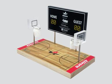 Basketball Court and Scoreboard