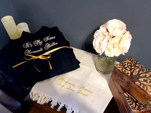 Luxury Hand Embroidered Spa Robe