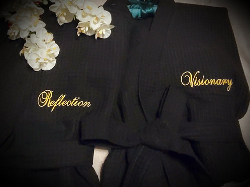 King or Queen Luxury Hand Embroidered Spa Robe
