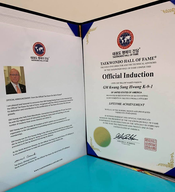 GM Hwang induction to ITF TKD Hall of Fa