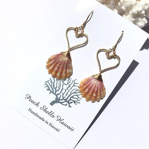 14KGF Heart Sunrise Shell Earrings (4)