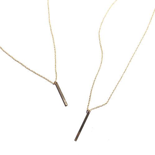 14K Gold Filled Bar Necklace