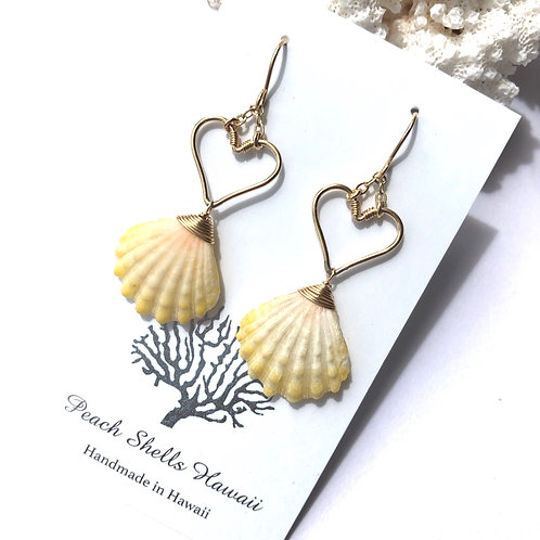 14KGF Heart Sunrise Shell Earrings (6)