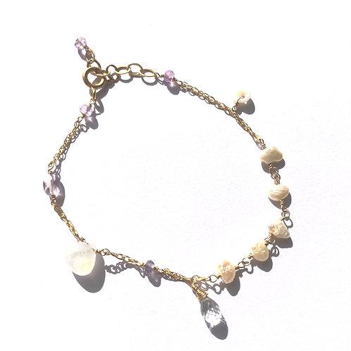14KGF Charm Bracelet Rainbow Moonstone (2)