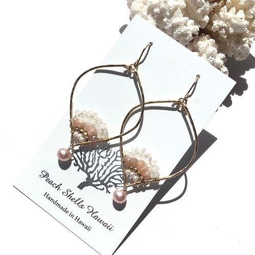 14KGF Lotus Earrings