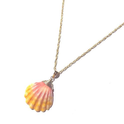 "14KGF Hawaiian Sunrise Shell Necklace 18"""