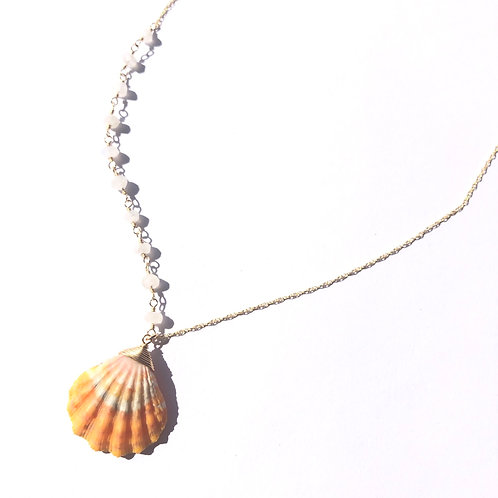 14KGF / Hawaiian Sunrise Shell Necklace (2)