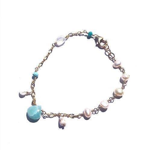 Larimar Charm Bracelet