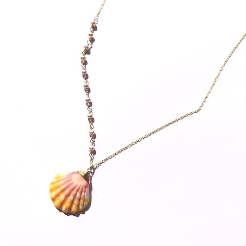 14KGF Sunrise Shell Necklace