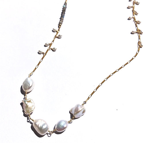 5 Keshi Pearl Necklace