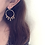 Thumbnail: 14KGF Hand Textured Hoop with Citrine Earrings