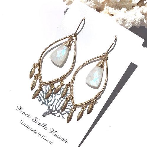 14KGF Rainbow Moonstone Earrings