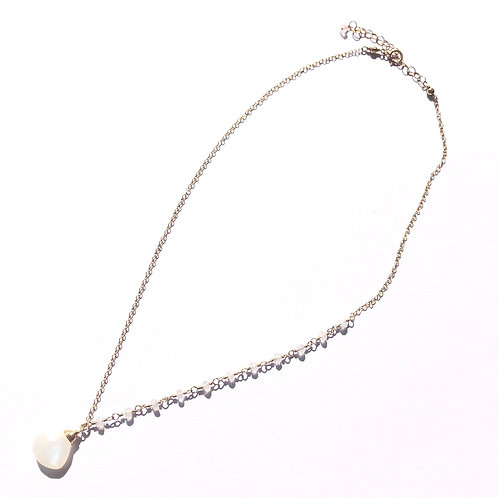 14KGF Rainbow Moonstone Link Necklace