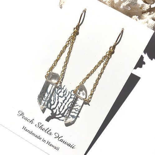 14KGF Crystal Quartz Drop Earrings