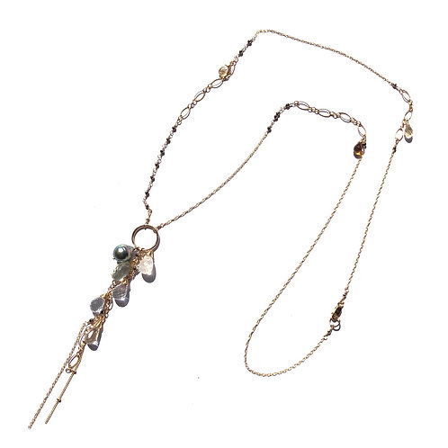 Waterfall Long Necklace