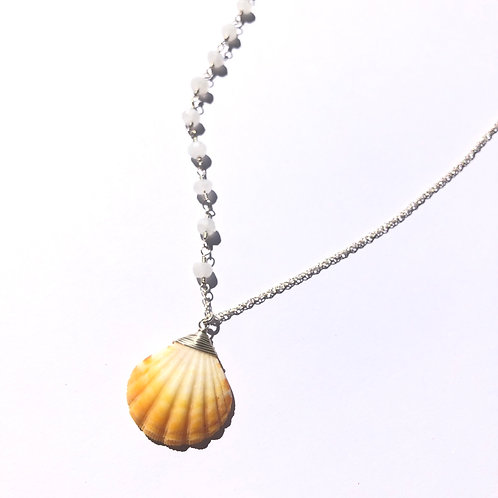 Sterling Silver / Hawaiian Sunrise Shell Necklace (1)