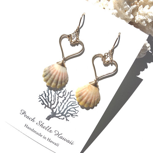 14KGF Heart Sunrise Shell Earrings (5)